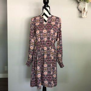 LOFT✨NWT floral paisley long sleeve spring dress
